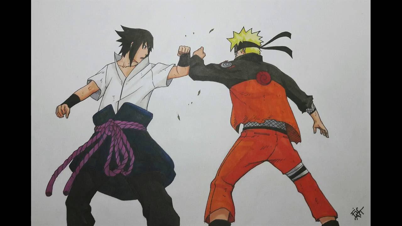 1280x720 Drawing Naruto Vs Sasuke Final Battle
