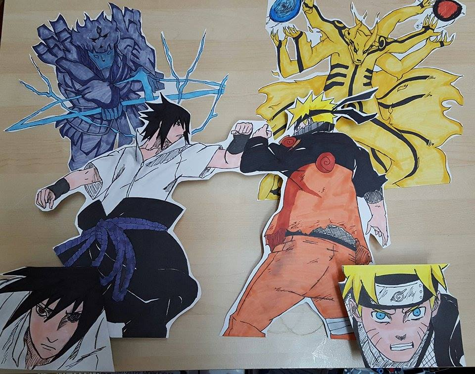 naruto vs sasuke drawing at getdrawings com free for personal use