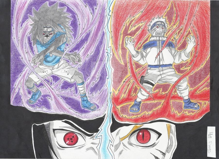 900x652 Naruto Vs Sasuke By Mtevans