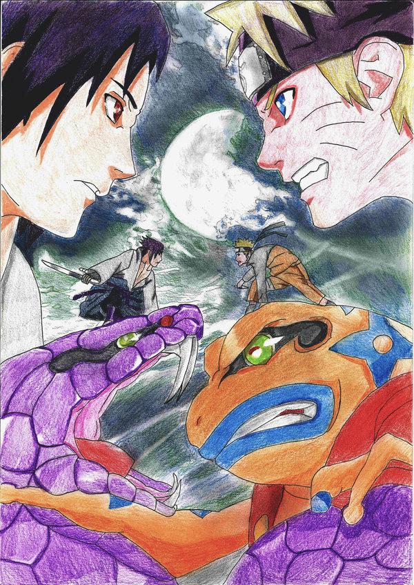 600x848 Naruto Vs Sasuke By Steefless