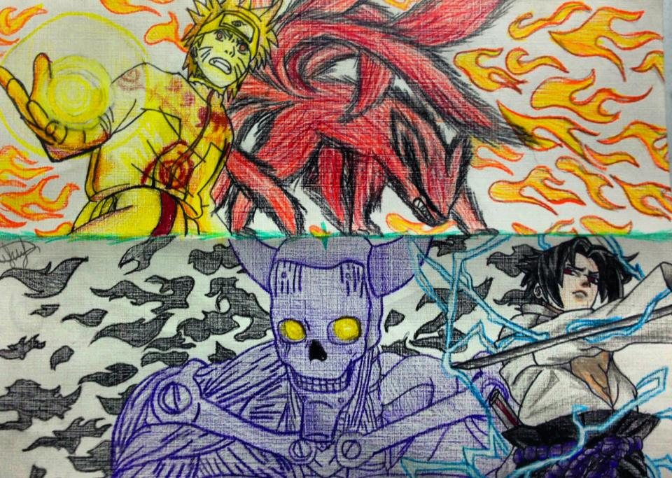 960x683 Naruto Vs. Sasuke Rasengan Vs. Chidori By Hearmerawr0119