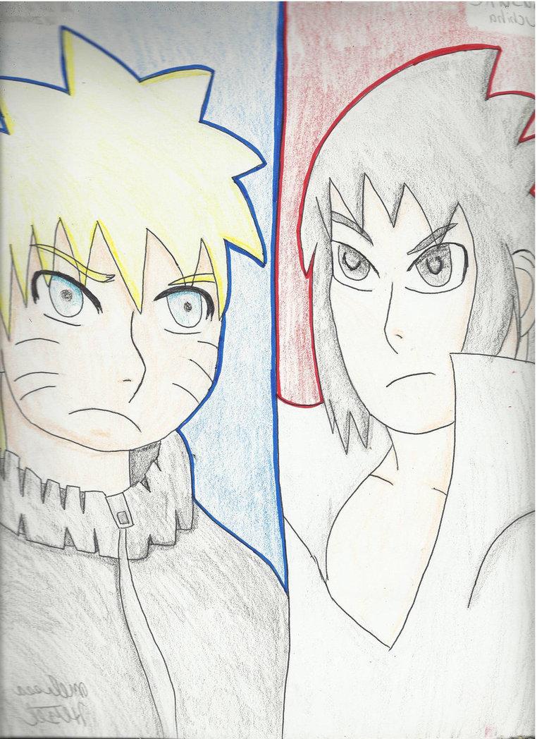762x1048 Naruto Vs Sasuke Drawing Paper By Zorau223