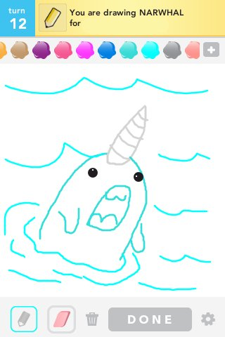 320x480 Narwhal Drawings