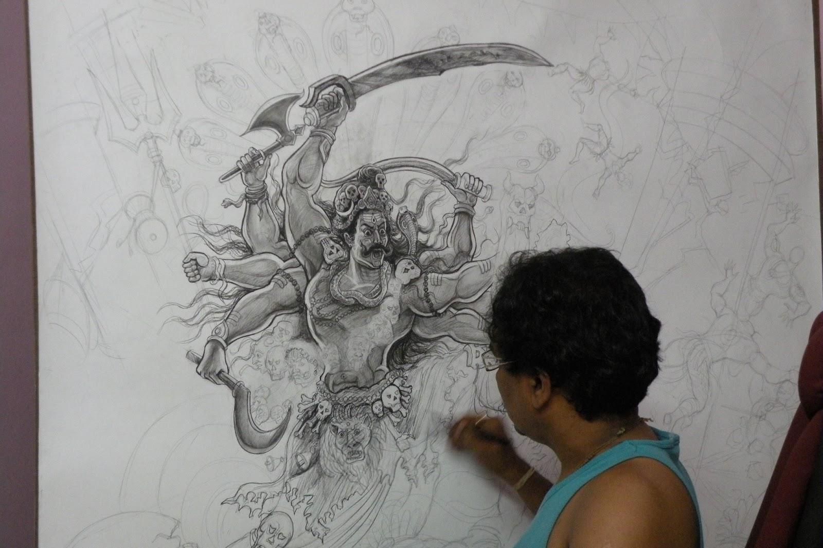 1600x1066 Mpm Nataraja My Solo Drawing Amp Painting Exhibition Chitrayana'S