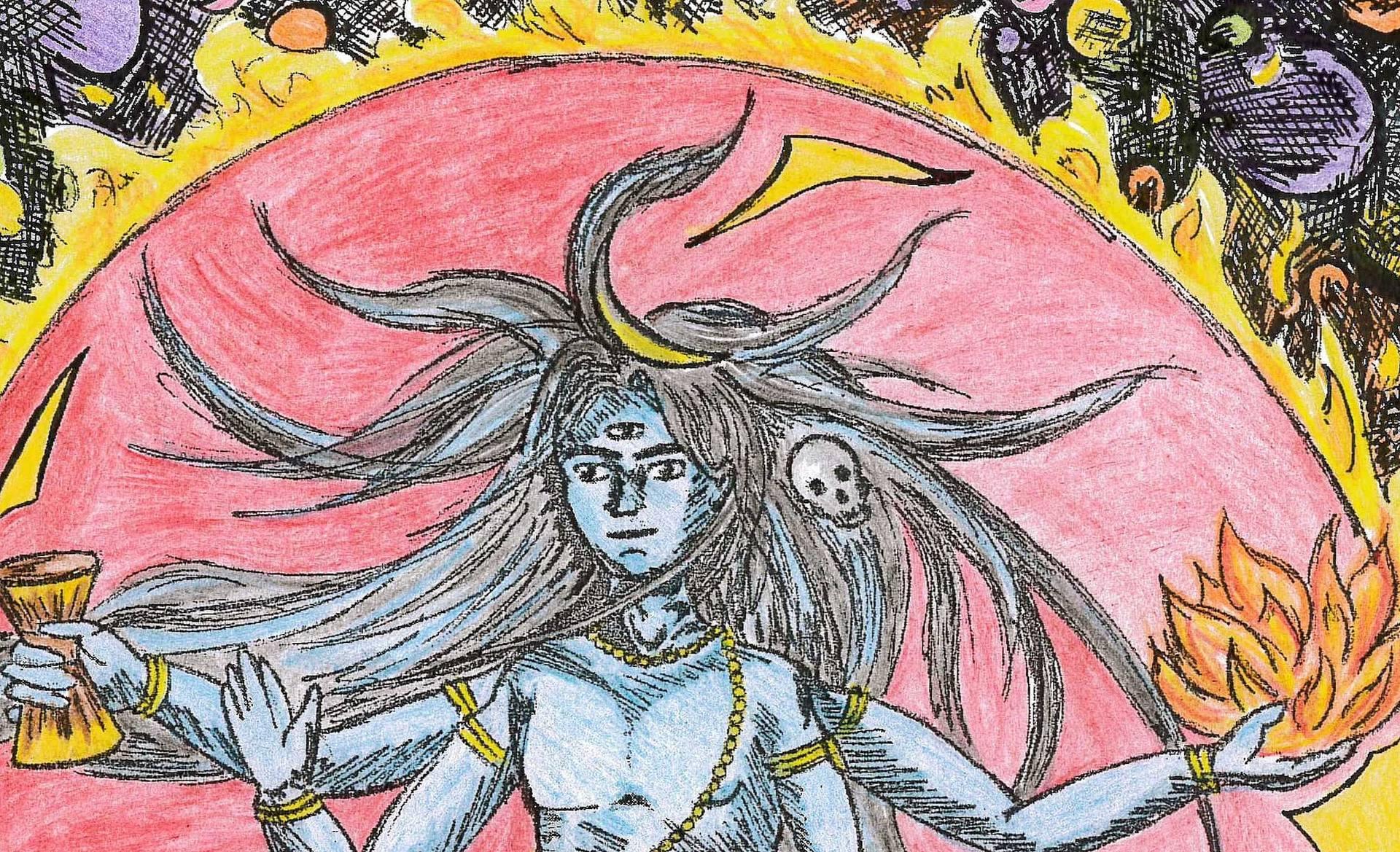 1920x1169 Saatchi Art Shiva Nataraja Drawing By Lolita Parekh