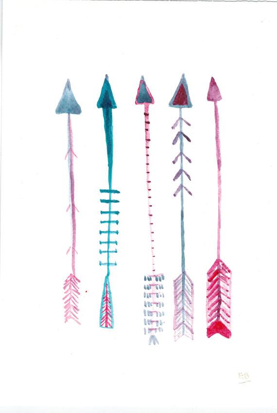 570x847 Arrows Original Native American Arrow Ink Drawing By Wishlistart