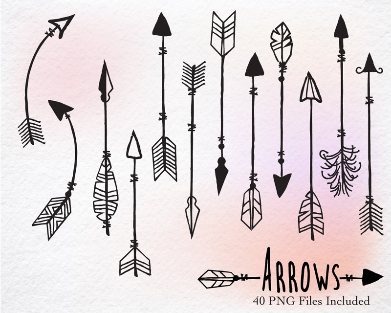 This is a picture of Soft Native American Arrow Drawing