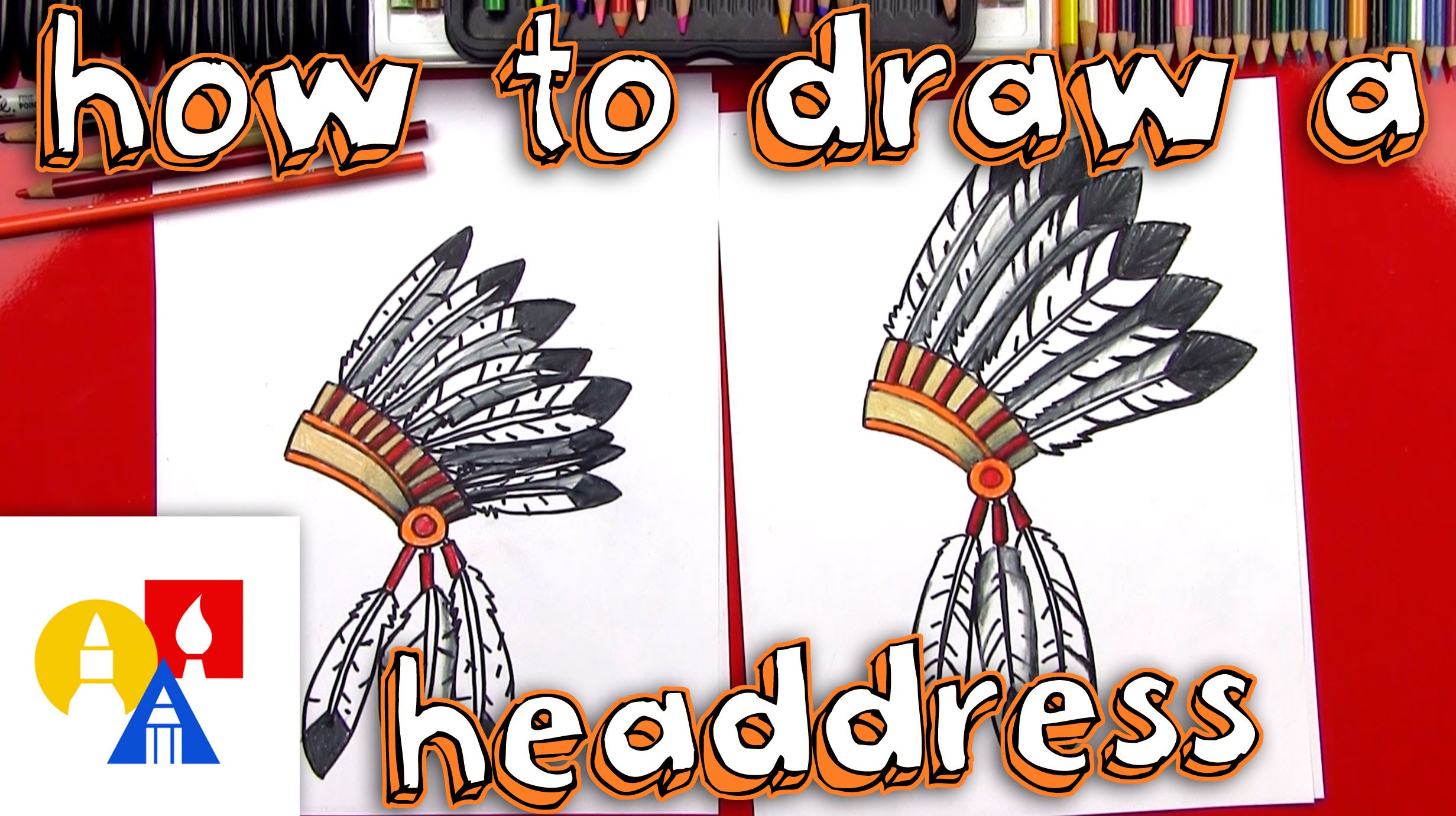 2463x1381 How To Draw A Native American Headdress