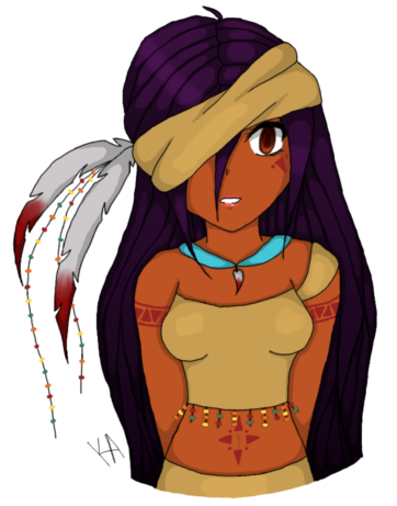 362x461 Native American Girl