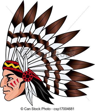 401x470 Native American People With Feathers On The Head For Mascot