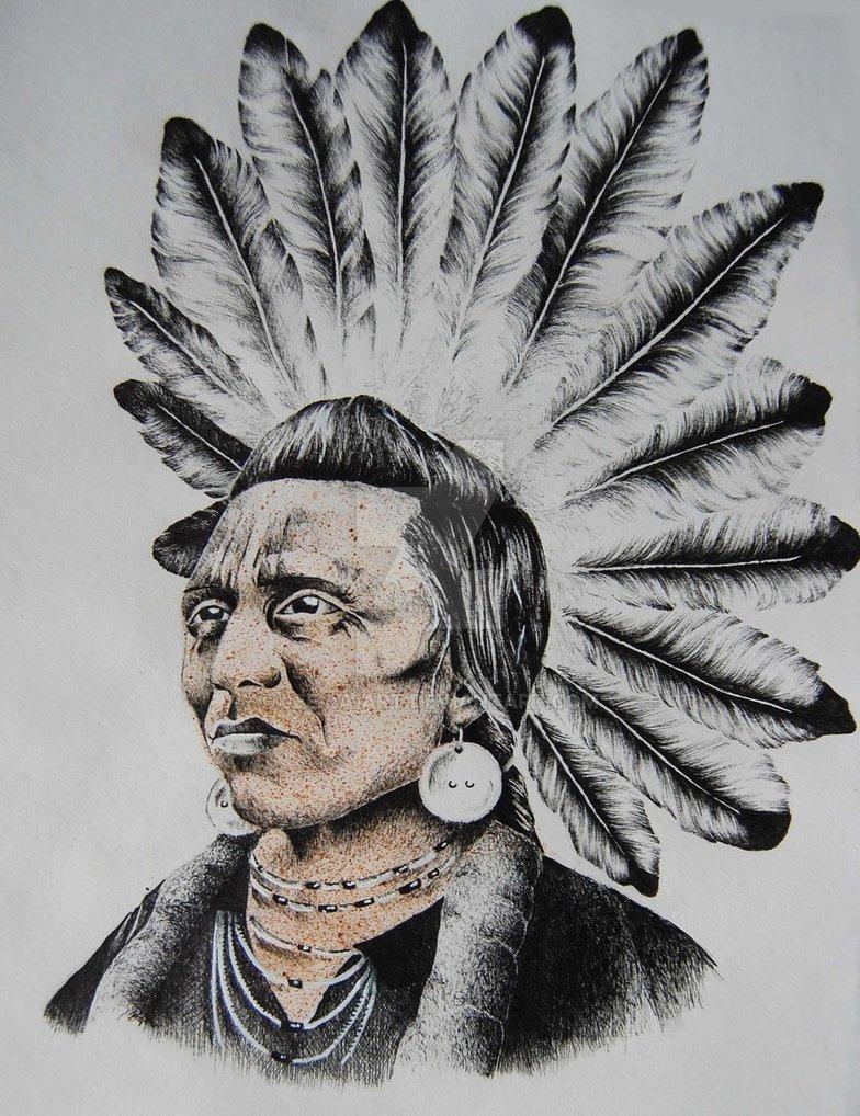 784x1018 Native American Chief By Lee La Art