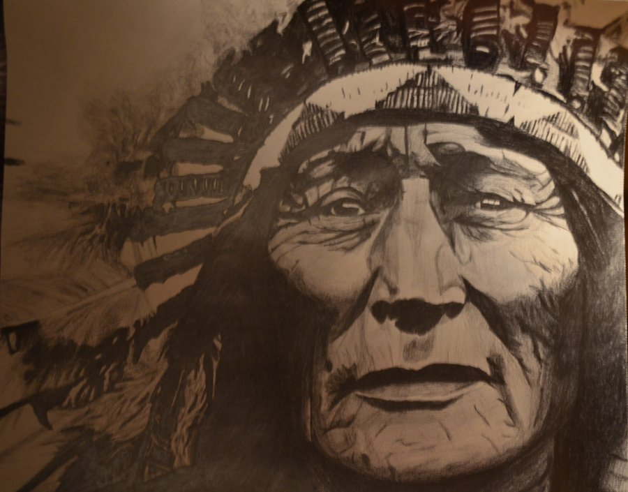 900x705 Native American Chief By Mja1090