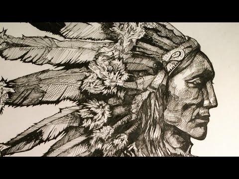480x360 Native American Chief. Drawing Chief.global Drawing Club