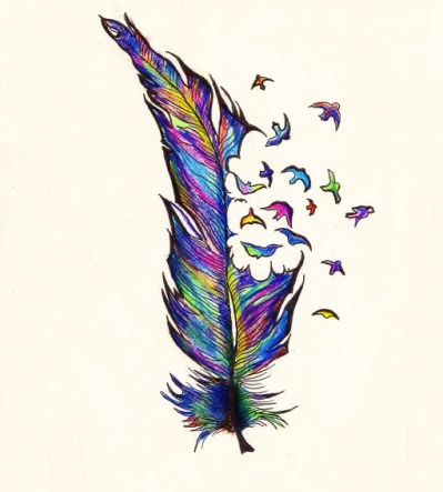 399x443 Native American Feather Drawings Art Drawings