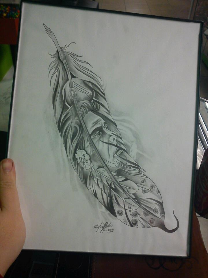 720x960 Native American Feather By Mkfoster17