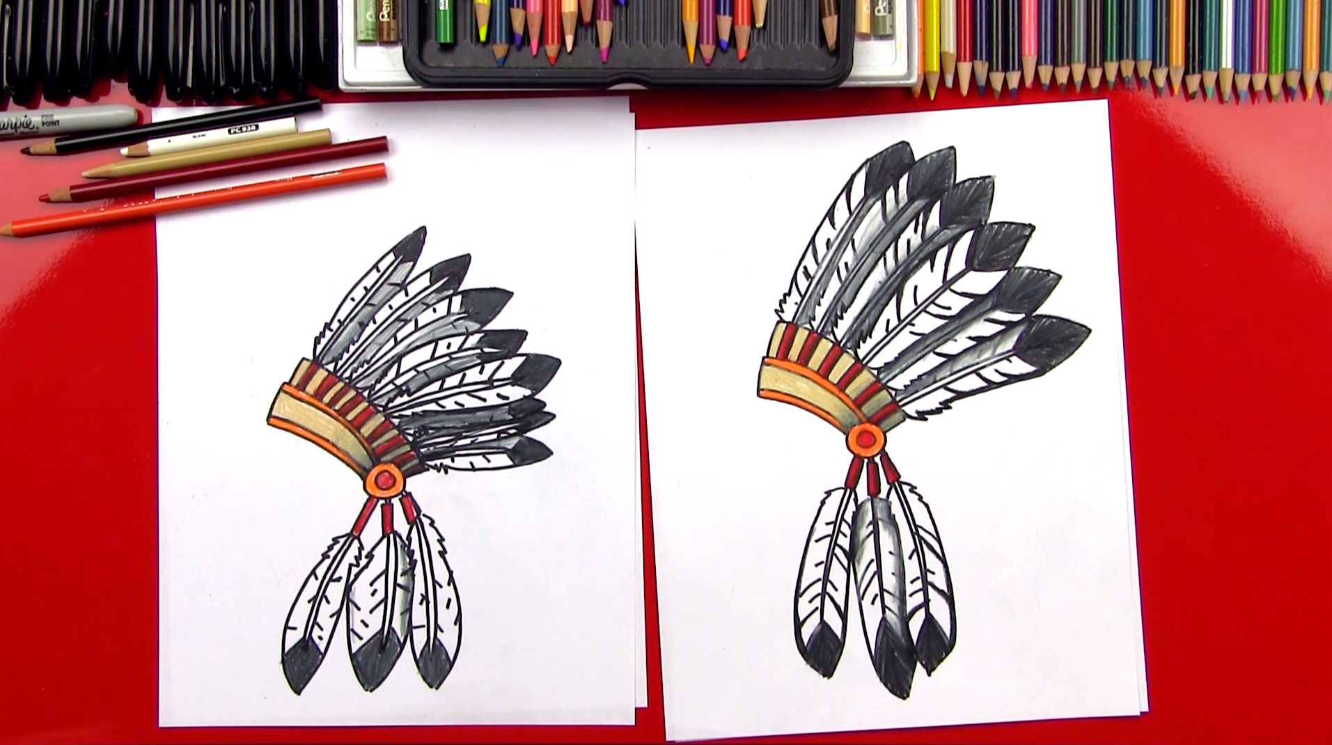 1913x1070 How To Draw A Native American Headdress