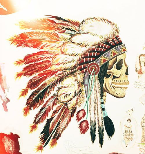 500x532 Native American Skull Drawings Native American Skull Native