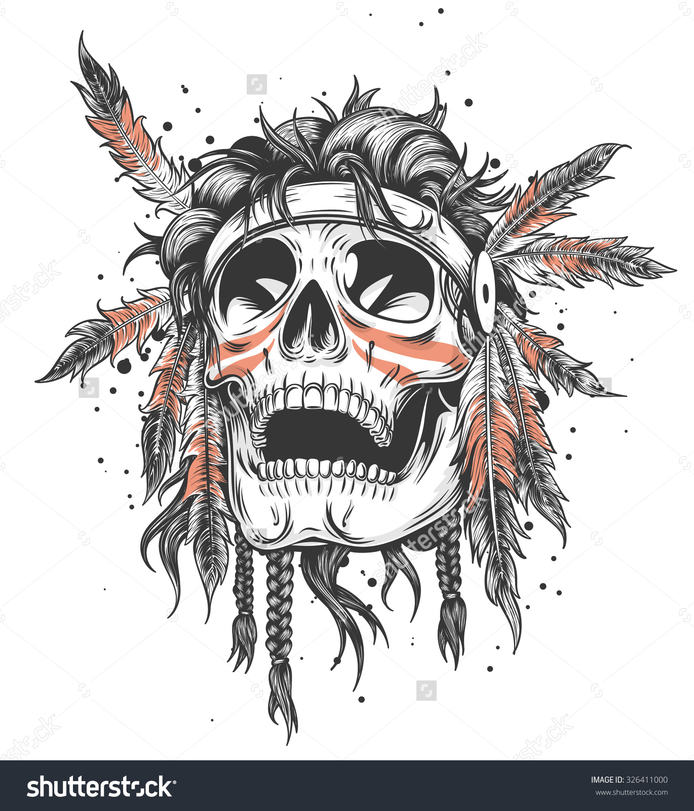 Native American Skull Drawing At Getdrawings Free For Personal