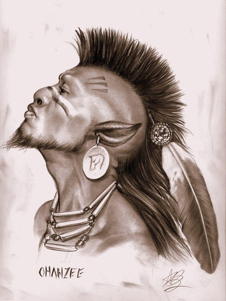 Native American Warrior Drawing at GetDrawings | Free download