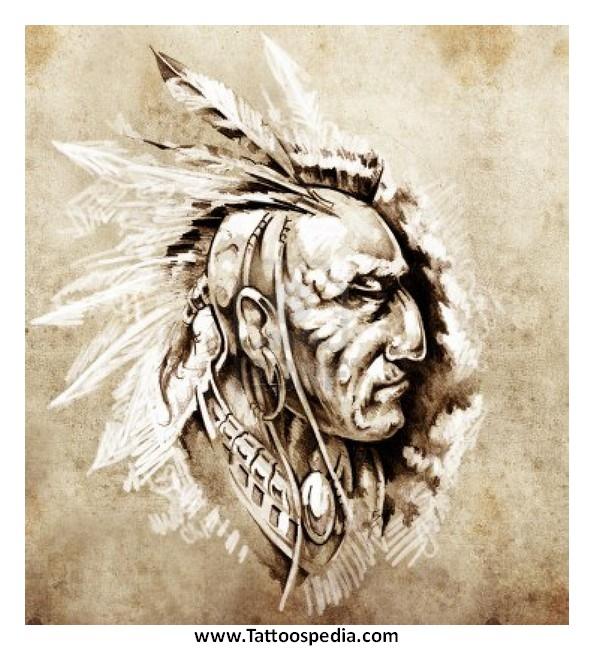 594x650 Native American Warrior Tattoos 1 Tattoos Warrior