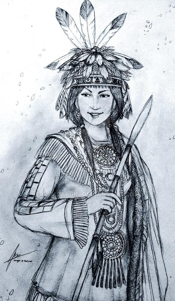 600x1032 Princess Immookalee Of Native American Tribes By Gambargin