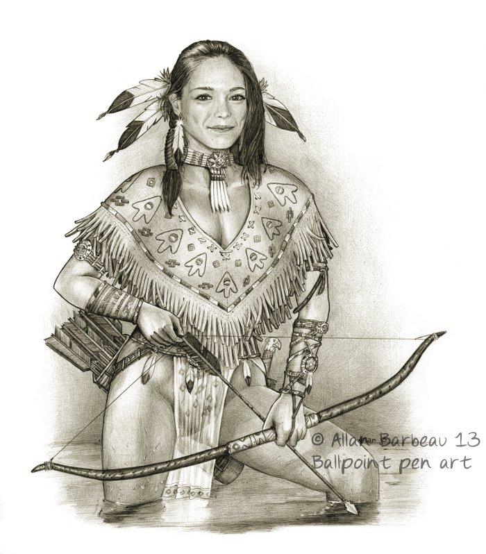 700x798 Native American Female Models