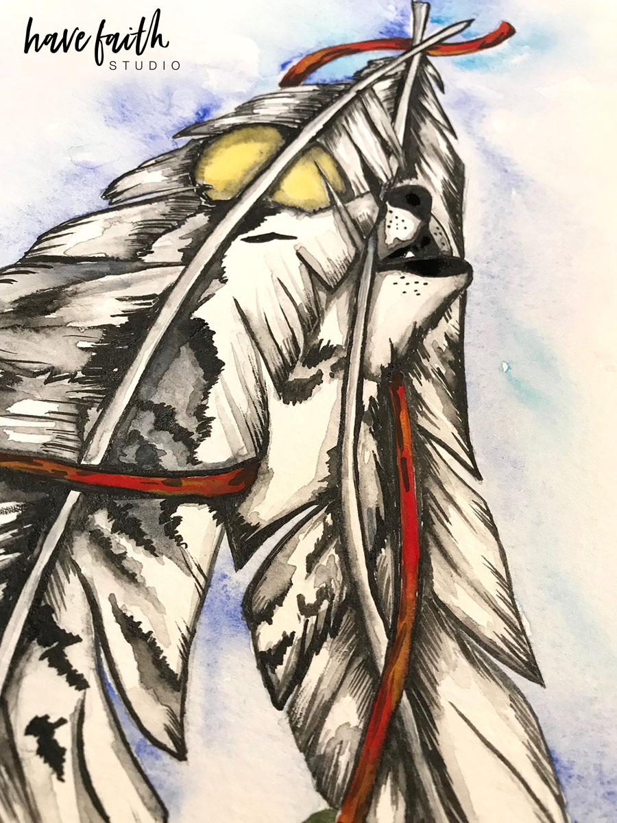 900x1200 From My Studio Native American Watercolor