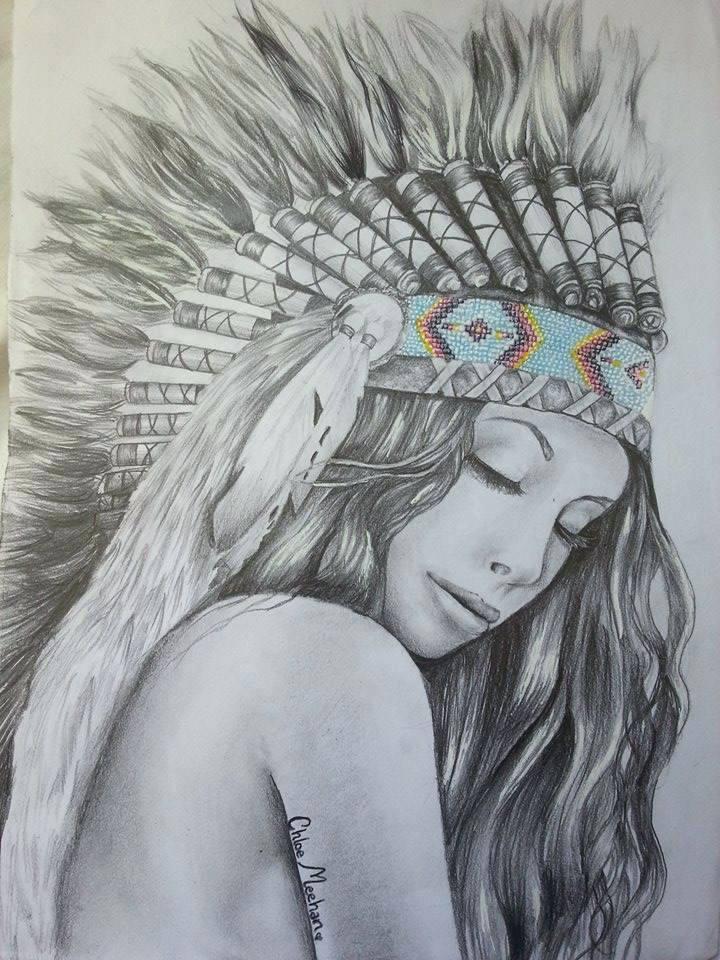 Native Americans Drawing at GetDrawings | Free download