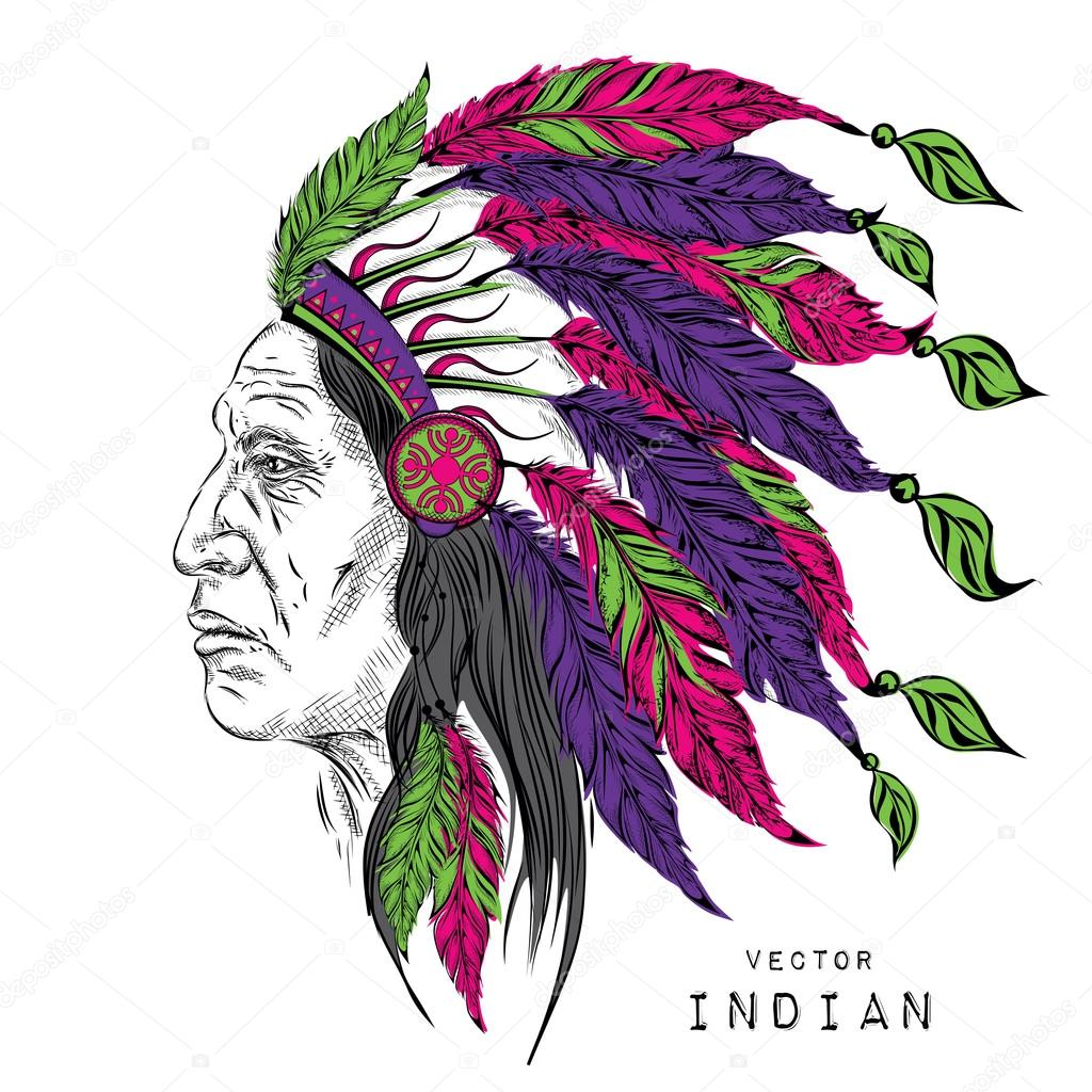 1024x1024 Man In The Native American Indian Chief. Black Roach. Indian