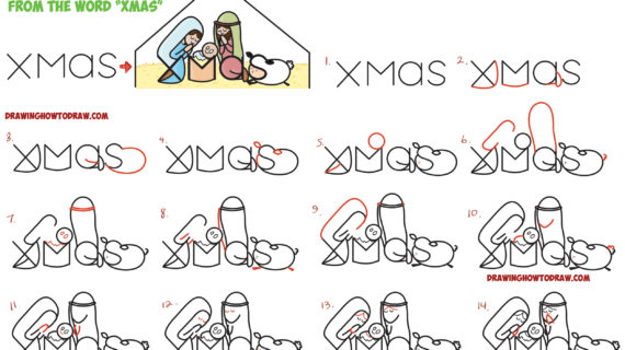 570x320 Simple Nativity Scene Drawing How To Draw Cartoon Nativity Scene