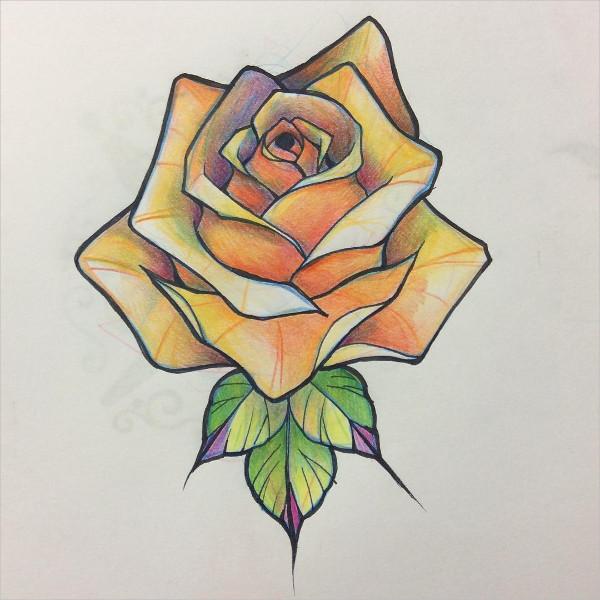 600x600 Rose Drawings