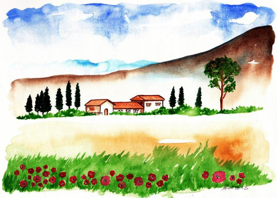 900x644 Landscape X. Nature. Drawings. Pictures. Drawings Ideas For Kids