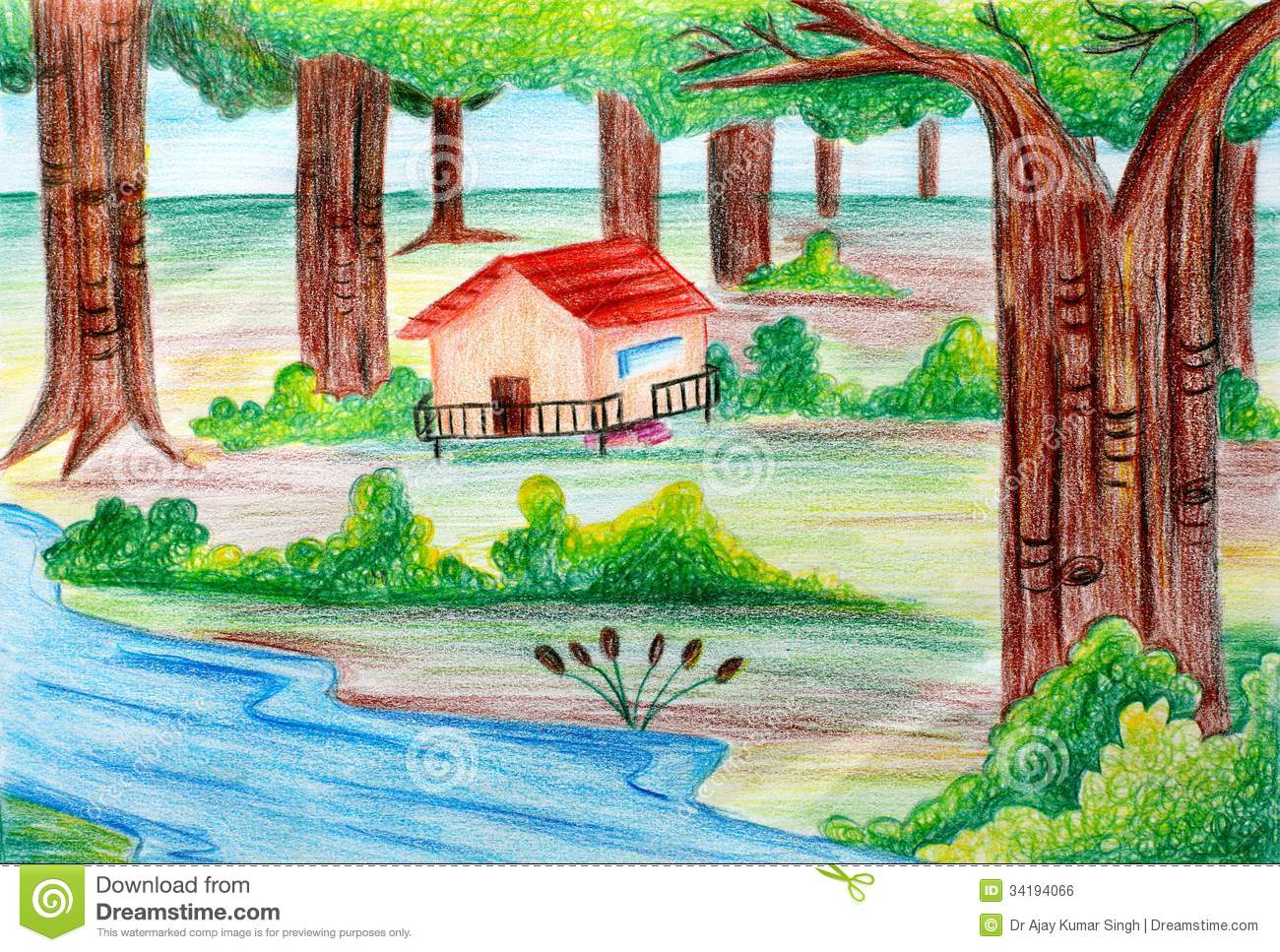 natural scenery drawing at getdrawings | free for personal use