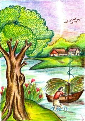281x400 Natural Scenery Scenery Scenery, Draw And Paintings