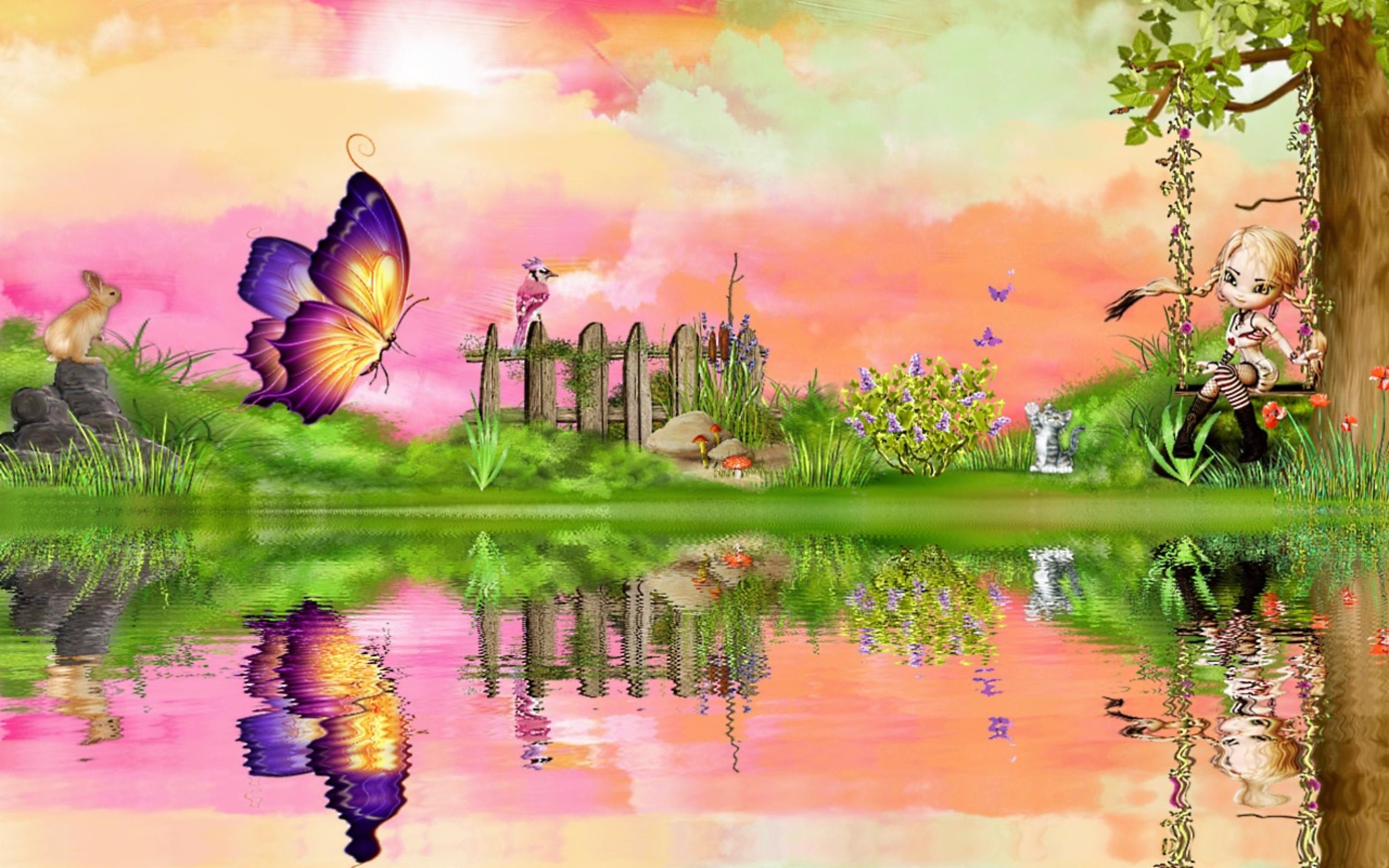 5120x3200 Nature Drawing With Colour Drawing Nature Colour
