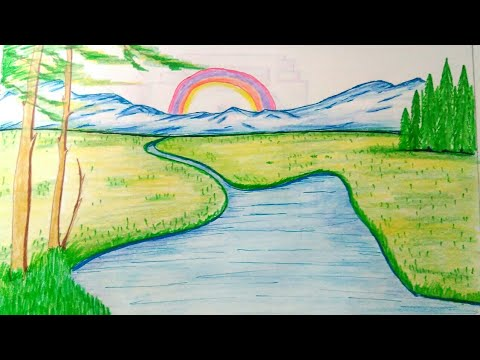 480x360 How To Draw Nature Scenerynature Drawings For Kidseautiful