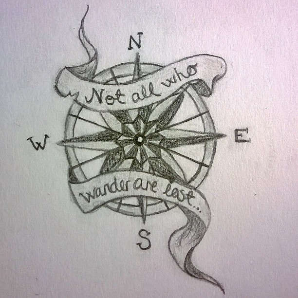 Nautical Compass Drawing At Getdrawings Com Free For