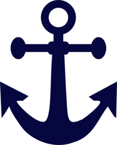 240x298 Anchor Navy Blue Clip Art