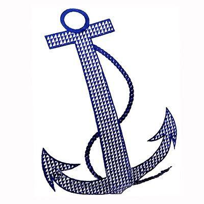 400x400 Modern White Navy Anchor Embroidery Decorative Pillow Case Cushion
