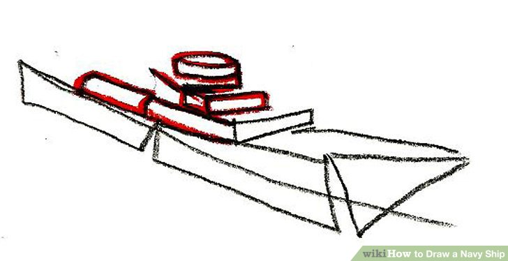 728x374 How To Draw A Navy Ship 9 Steps (With Pictures)