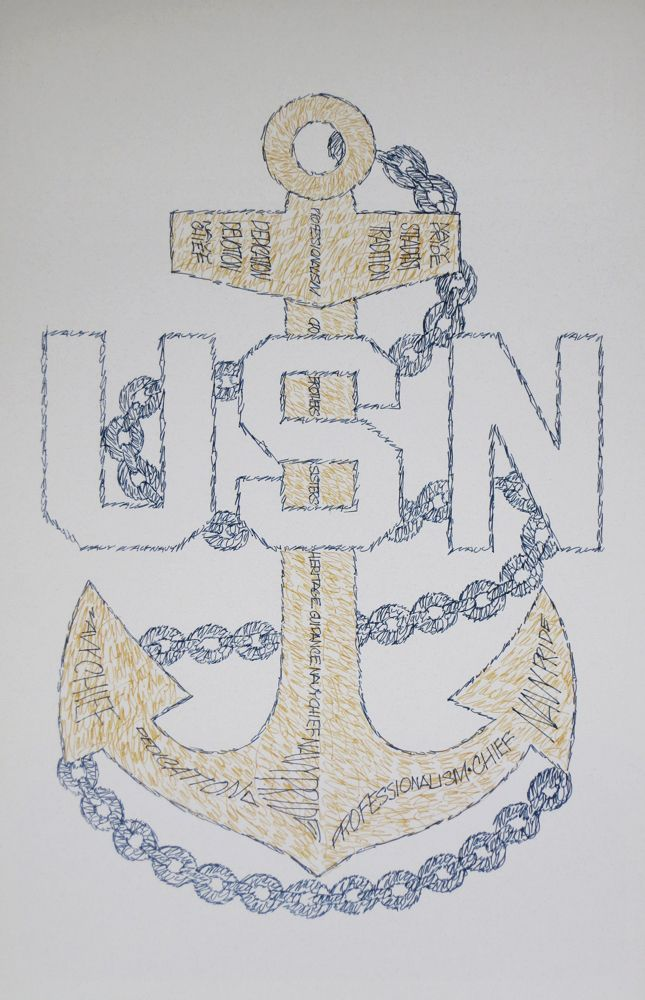 645x1000 Navy Chief Petty Officer Cpo E7 Art, Retirement And Promotion