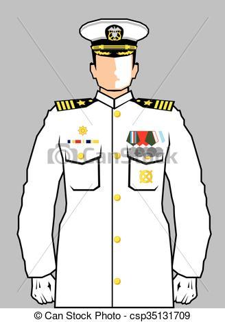328x470 Navy Officer Vector Clipart