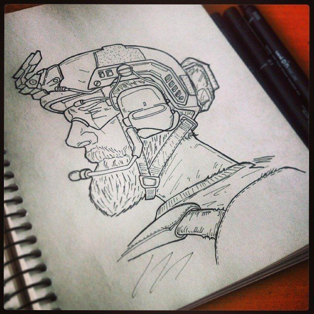 640x640 Navy Seal Sketch By Eugen Goutnick. Sketches Sketches