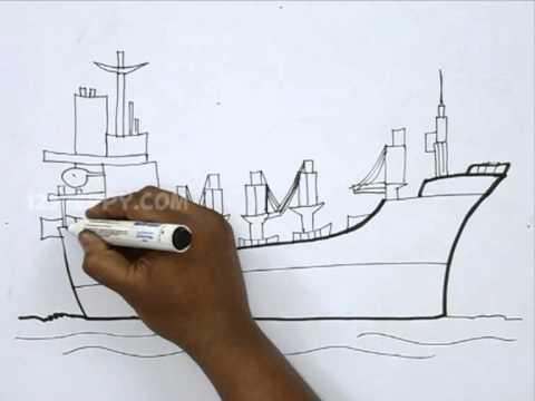 480x360 How To Draw A Cargo Ship