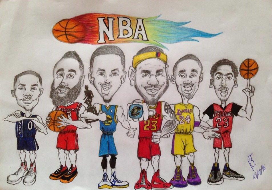 Cool Nba Drawings