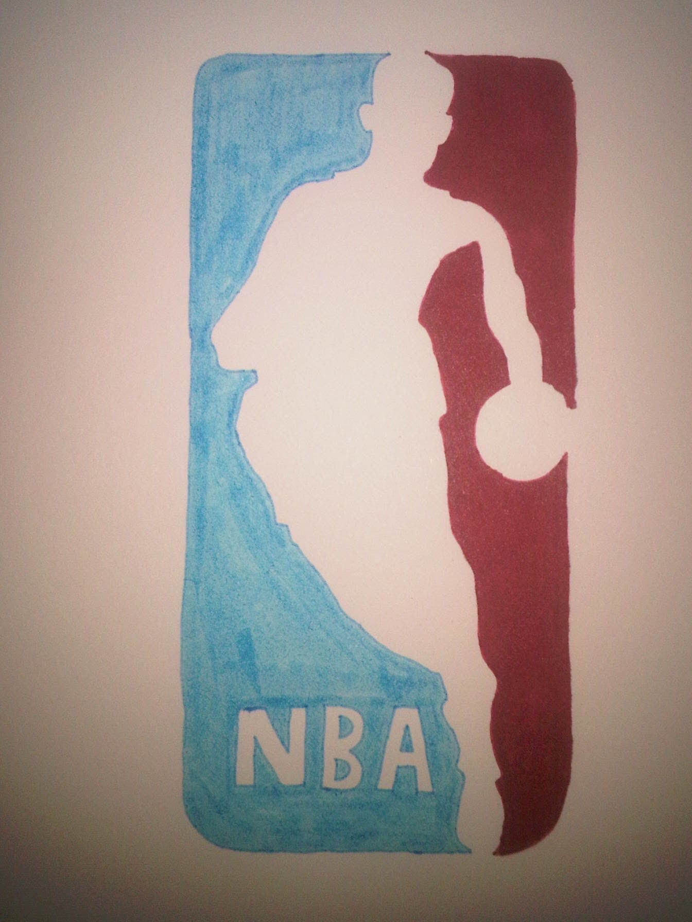 1344x1792 How To Draw The Nba Logo