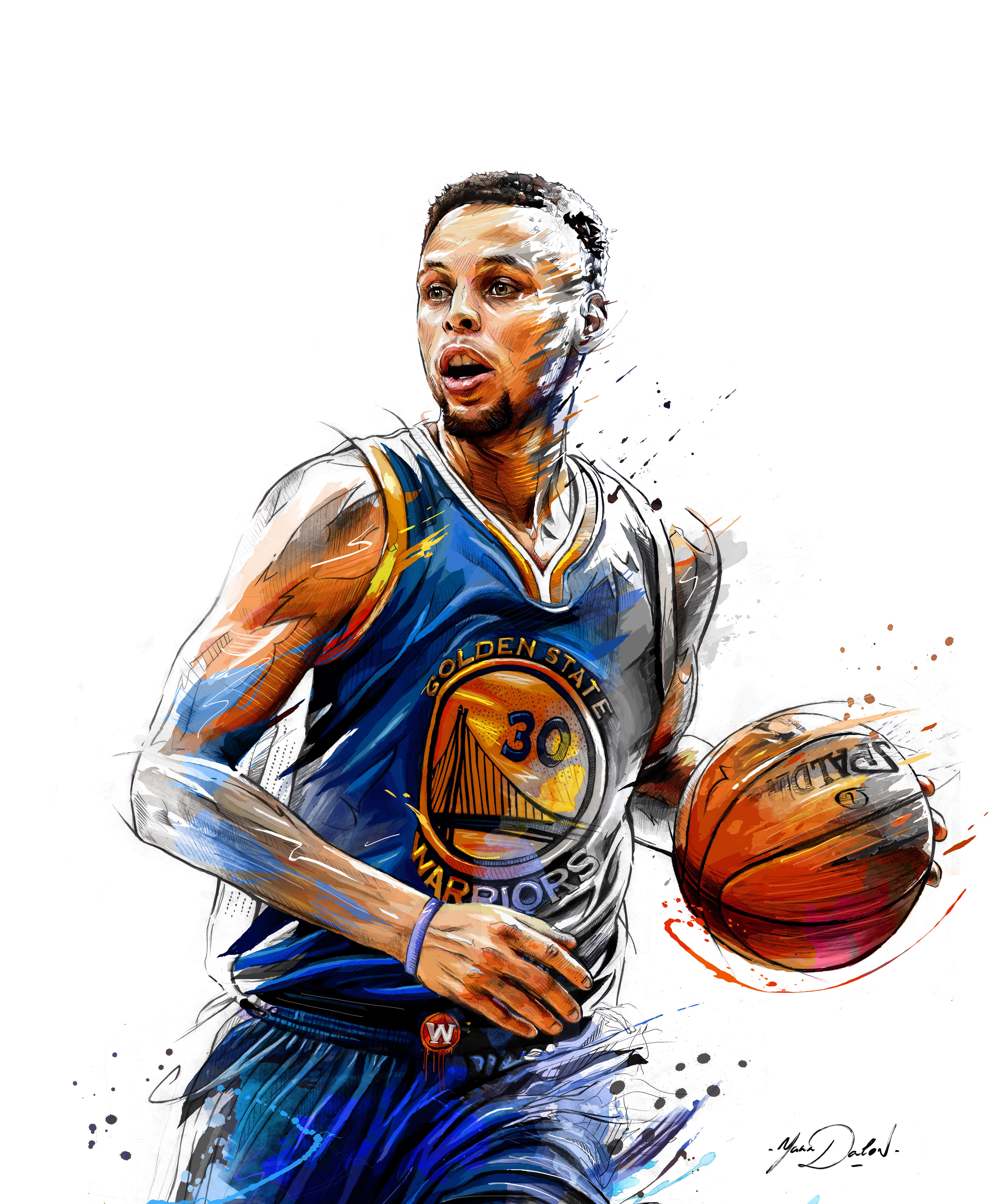 3415x4139 My Painting Of Stephen Curry For Reverse Nba Magazine Steph