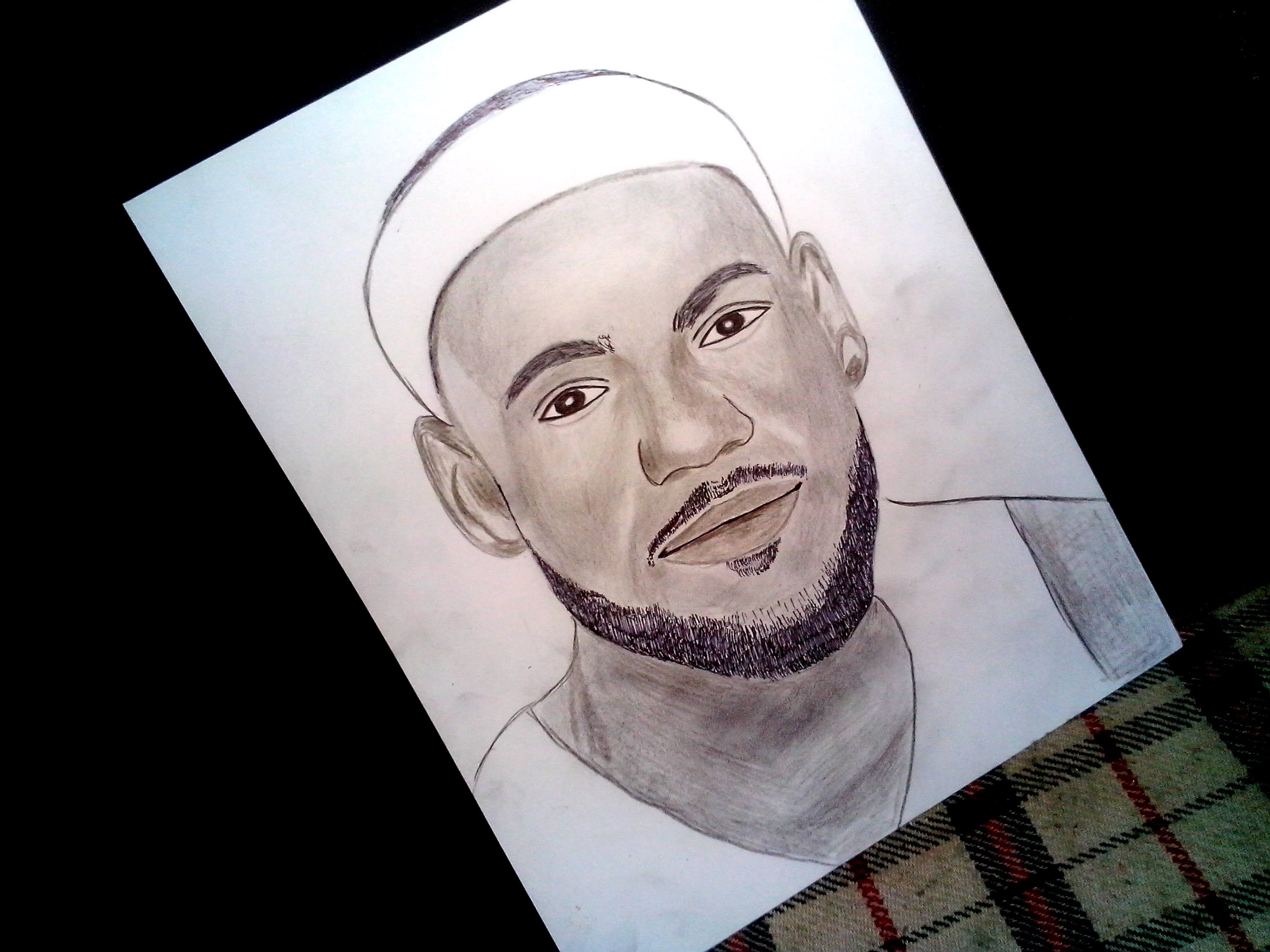 3000x2250 Speed Drawing Lebron James Basketball Player