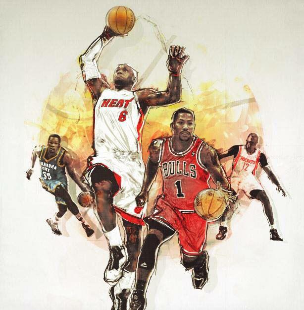 614x625 Nba Stars Basketball Art And Designs. Nba Stars