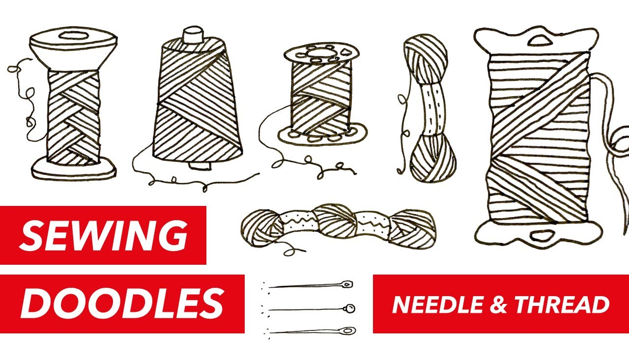 1280x720 Sewing Doodles Needle Thread How To Draw Needles